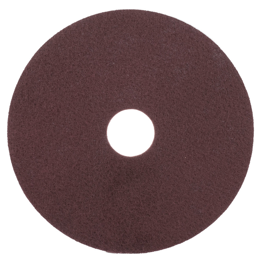 "Scrubble by ACS 47-17 17"" Maroon Thin Line Conditioning Floor Pad - Type 47 - 10/Case"