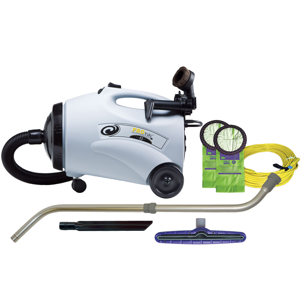 ProTeam 107154 10 Qt. ProVac CN Canister Vacuum Cleaner with 107100 Xover Tool Kit D - 120V