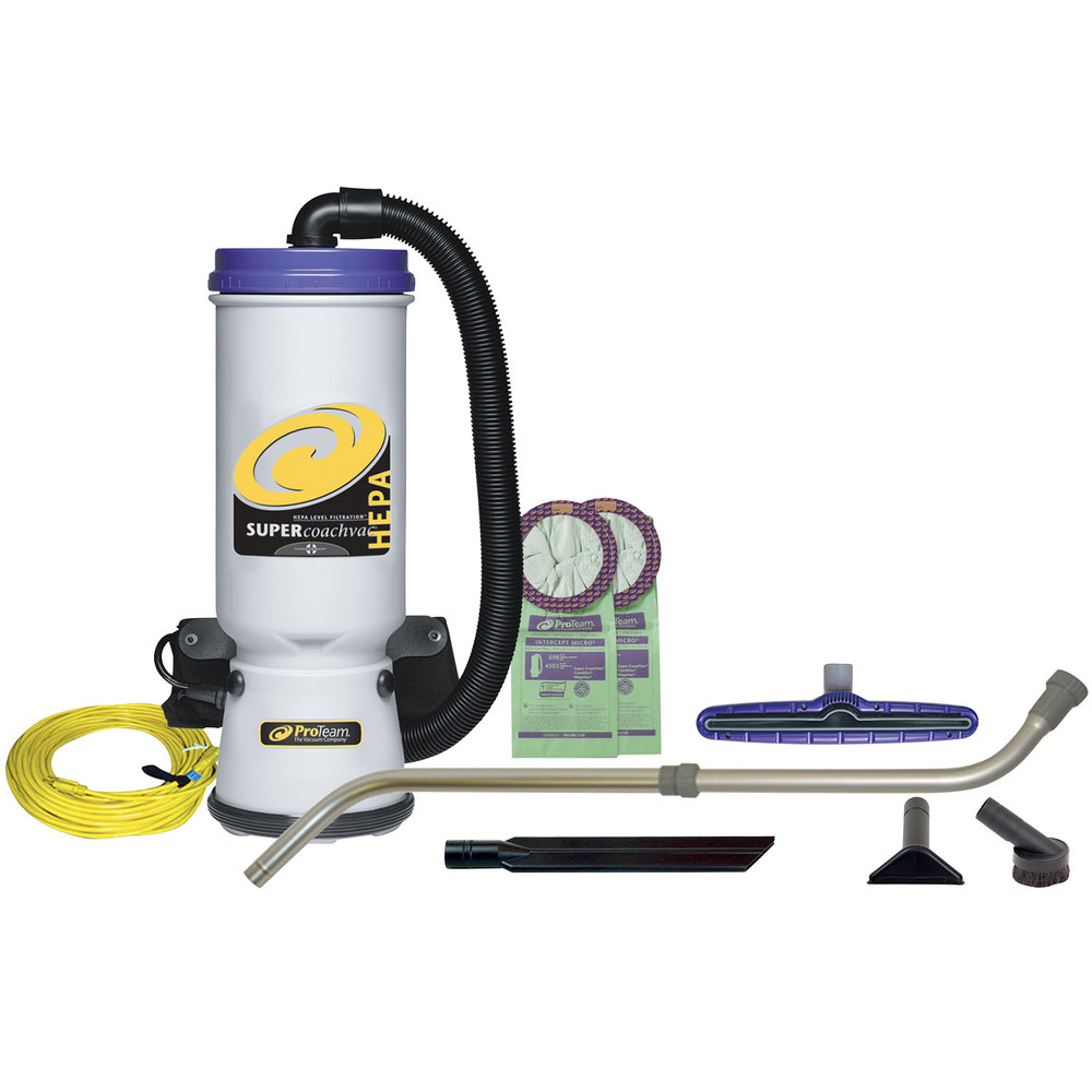 Proteam 107119 10 Qt Super Coachvac Hepa Backpack Vacuum