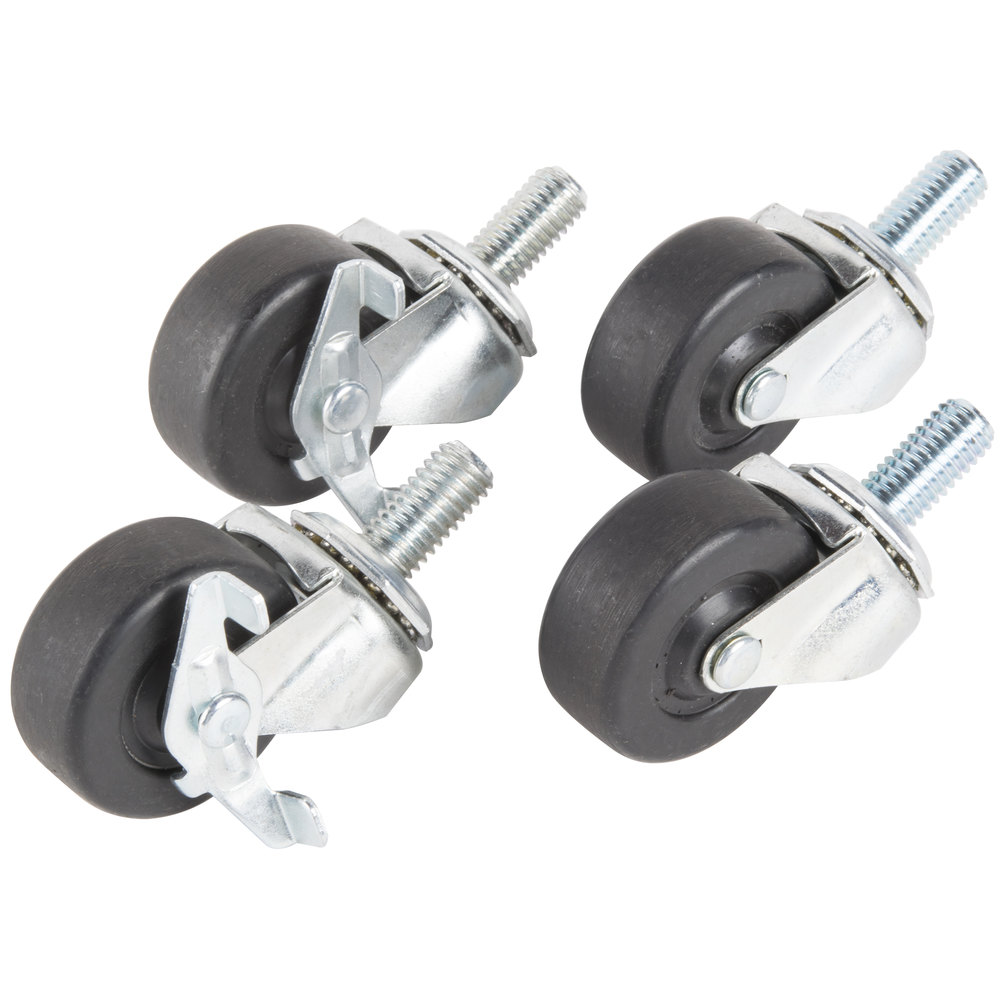 "Traulsen CK28 2 1/2"" Swivel Casters for 27"", 32"", and 48"" U-Series Refrigerators and Freezers - 4/Set"