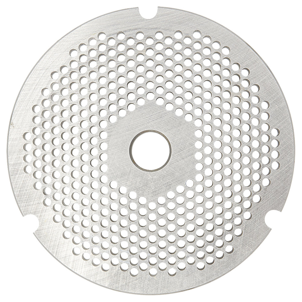 "Hobart 3246PLT-1/8C #32 1/8"" Carbon Steel Grinder Plate for 4146, 4246, 4732, MG2032, and MG1532 Meat Grinders / Choppers"