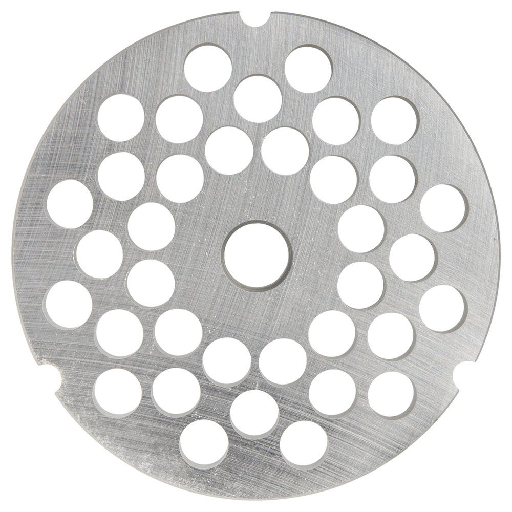 "Hobart 3246PLT-3/8C #32 3/8"" Carbon Steel Grinder Plate for 4146, 4246, 4732, MG2032, and MG1532 Meat Grinders / Choppers"