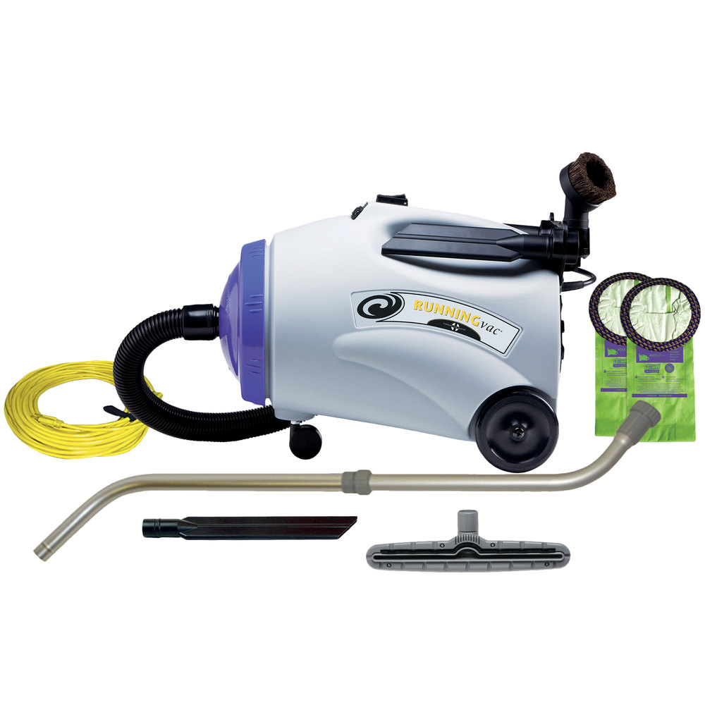 ProTeam 107149 10 Qt. RunningVac Canister Vacuum with Xover Performance Tool Kit C