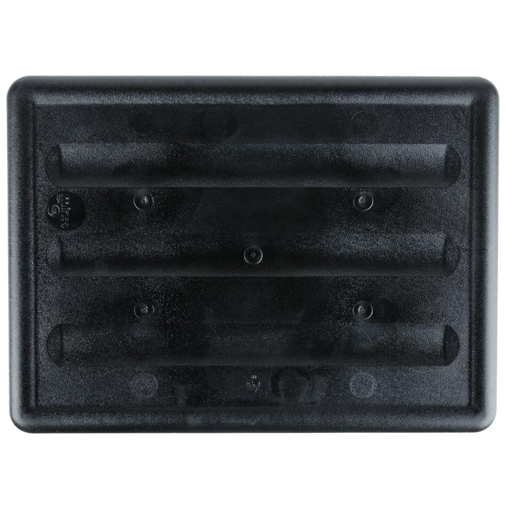 "20 X 15 X 7 Black Polypropylene Bus Tub Bus Box 20"" x 15"" x 7"" Black Polypropylene Bus Tub"