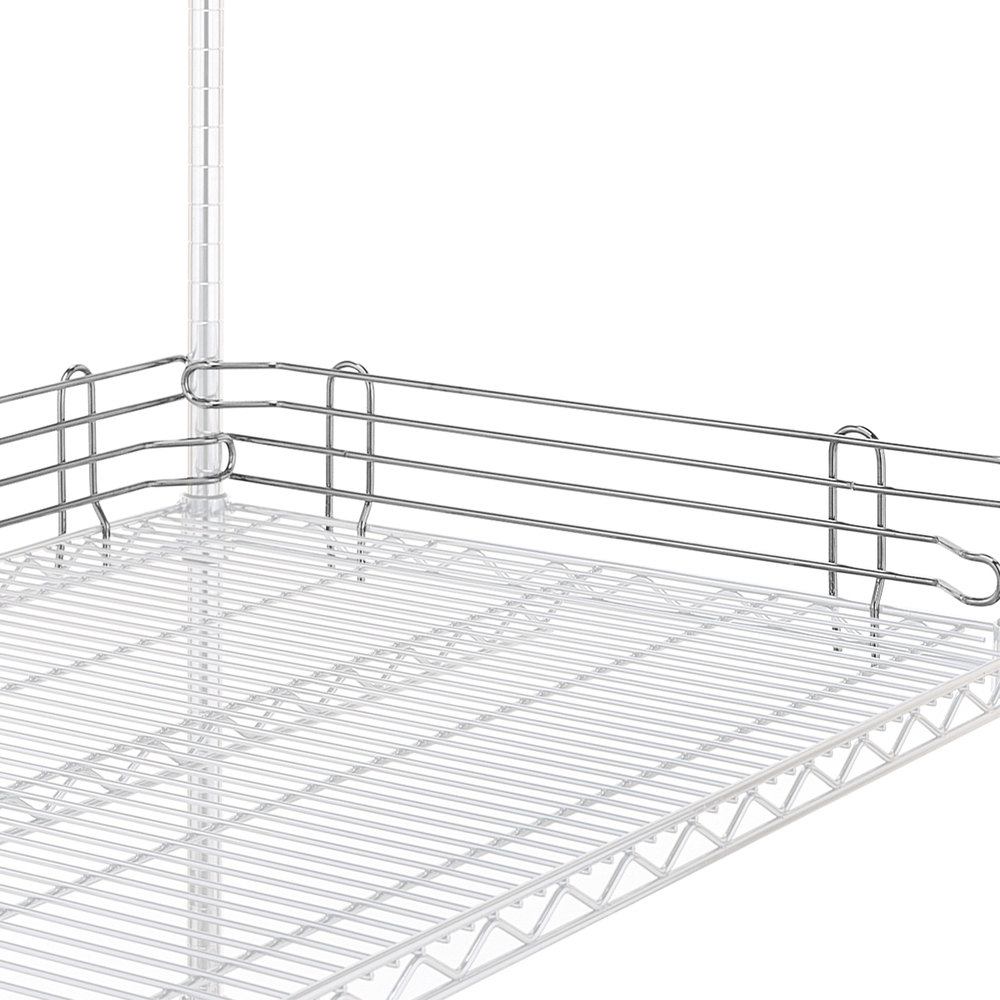 "Metro L21N-4S Super Erecta Stainless Steel Stackable Ledge 21"" x 4"""