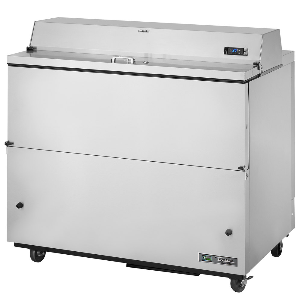 "True TMC-49-S 49"" Stainless Steel One Sided Milk Cooler"