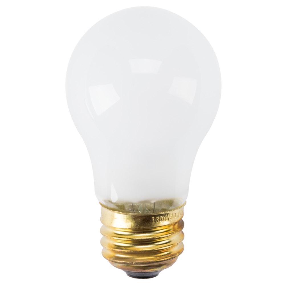 40 Watt Appliance Frosted Light Bulb 130v A15