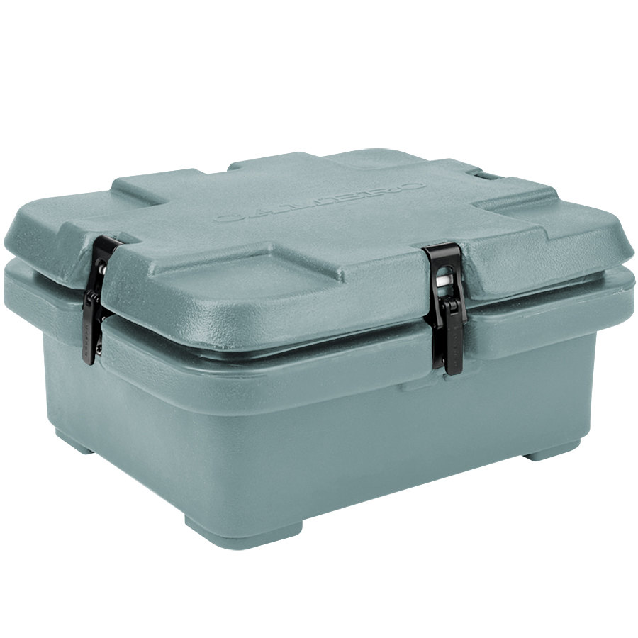 "Cambro 240MPC401 Camcarrier 4"" Deep Slate Blue Top Loading Inuslated Food Pan Carrier"