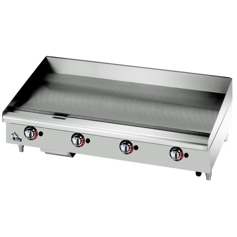 "Star Max 548CHSF 48"" Countertop Electric Griddle with Chrome Plate and Snap Action Thermostatic Controls - 16000W"