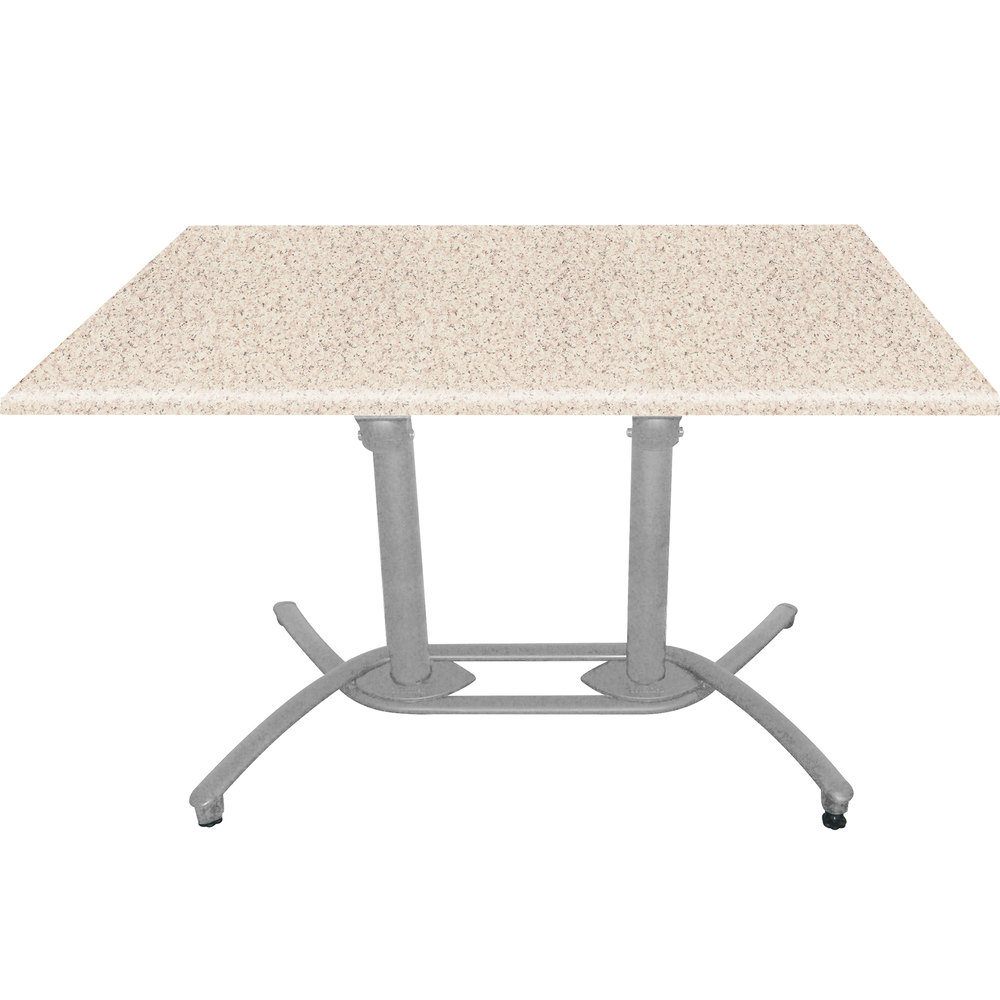 Grosfillex US819109 Aluminum Tilt Top Lateral Outdoor Table Base 100 - Silver Gray