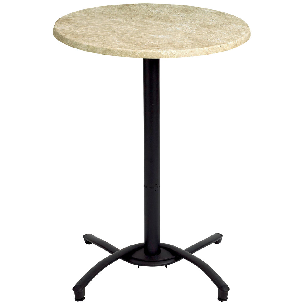 grosfillex 52812017 black bar height outdoor table base