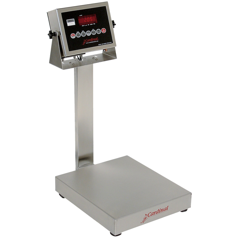 Cardinal Detecto EB-150-205 150 lb. Electronic Bench Scale with 205 Indicator, Legal for Trade