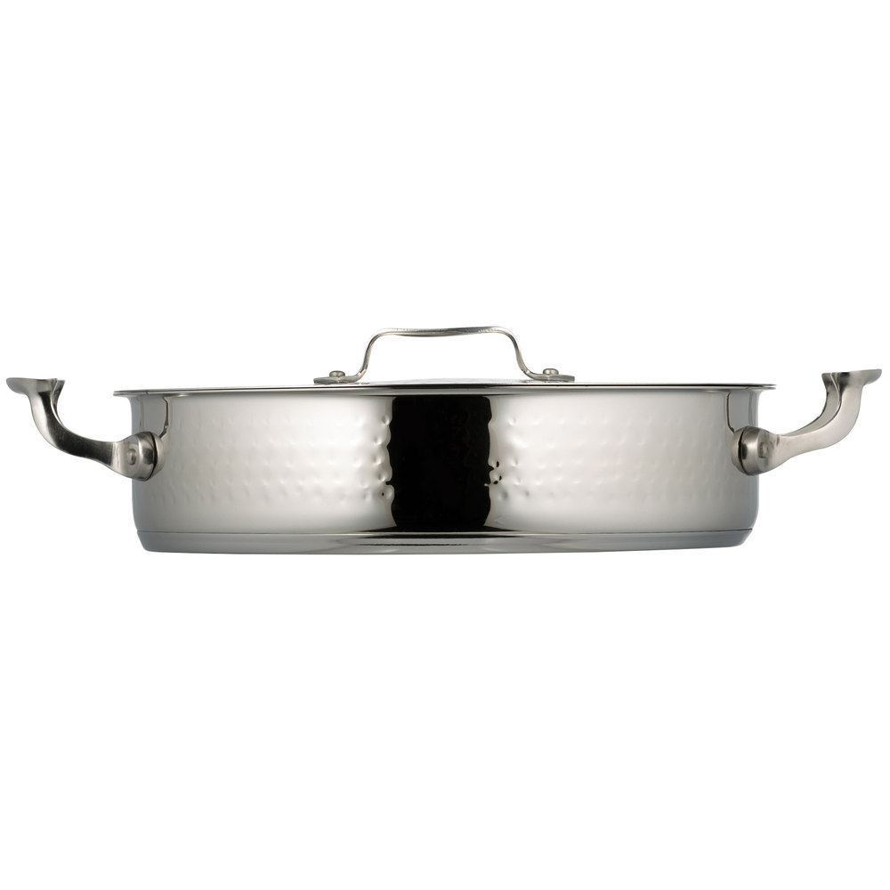 Bon Chef 60030HF Cucina 6 Qt. Hammered Brazier Pot with Cover
