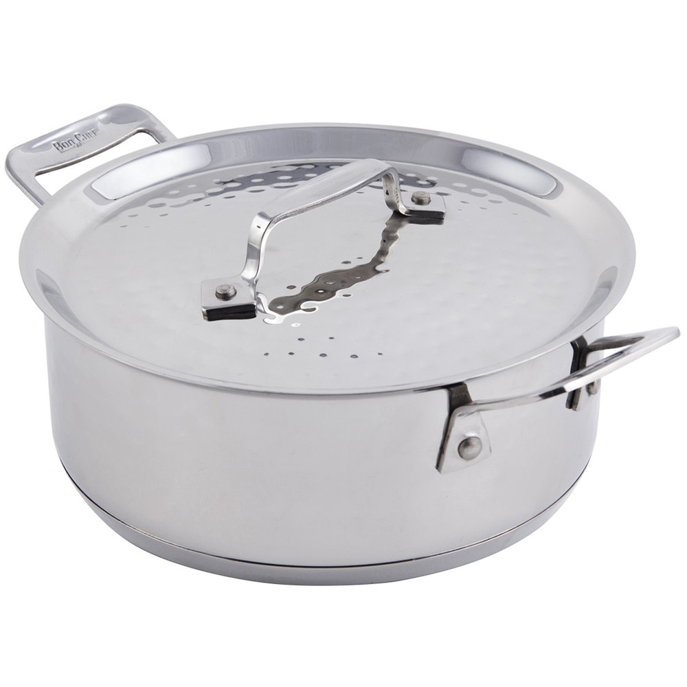 bon chef 60000hf cucina 3 qt. hammered finish stainless steel ... - Chef In Cucina