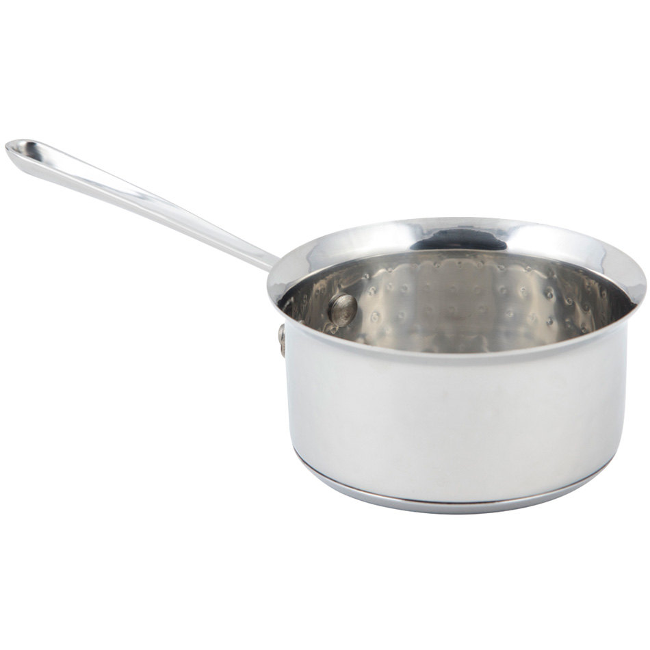 Bon Chef 60009HF Cucina 0.5 Qt. Hammered Finish Stainless Steel Butter Warmer