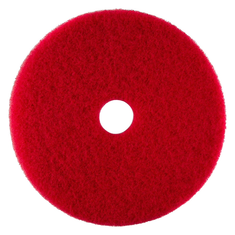 "Scrubble by ACS 51-19 Type 55 19"" Red Buffing Floor Pad - 5/Case"
