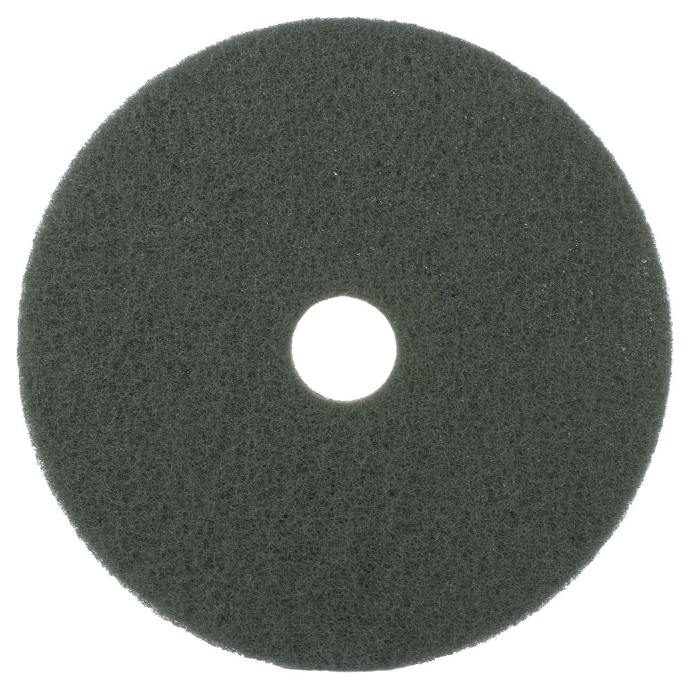 "20"" Green Scrubbing Floor Pad - 5/Case"