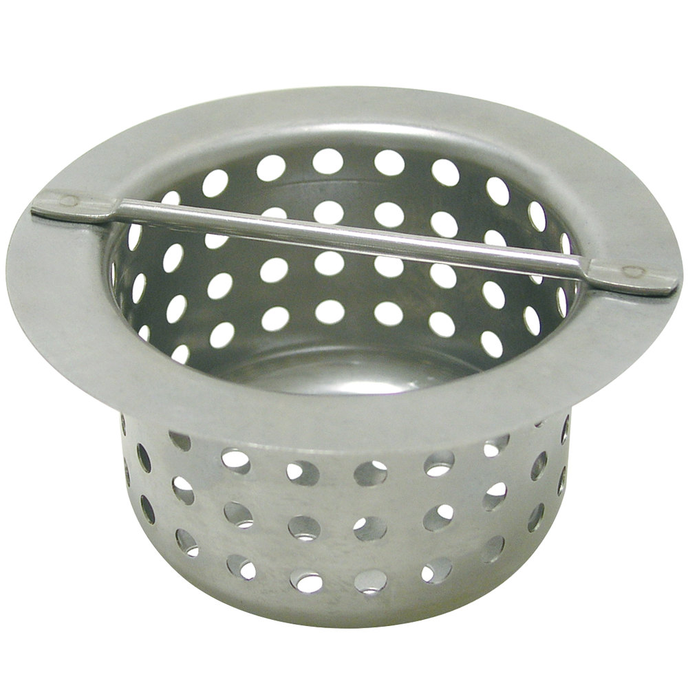 Advance tabco ft 2 floor trough drain strainer basket for Ground drain