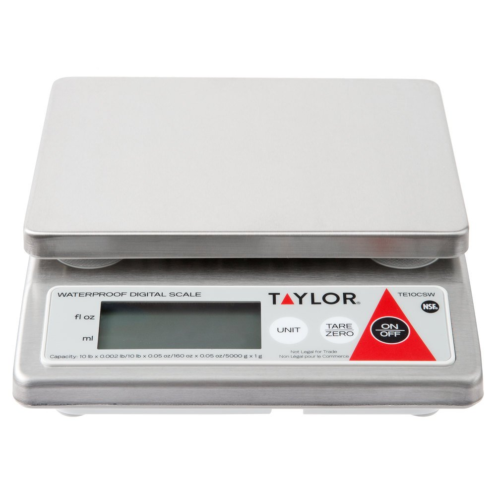 Taylor TE10CSW 10 lb. Water Resistant Digital Portion Control Scale ...