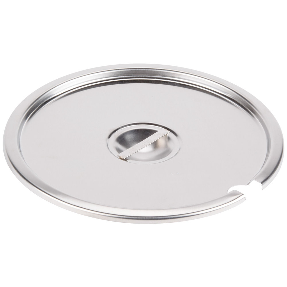 Vollrath 78200 Stainless Steel Slotted Cover for 11 Qt. Inset