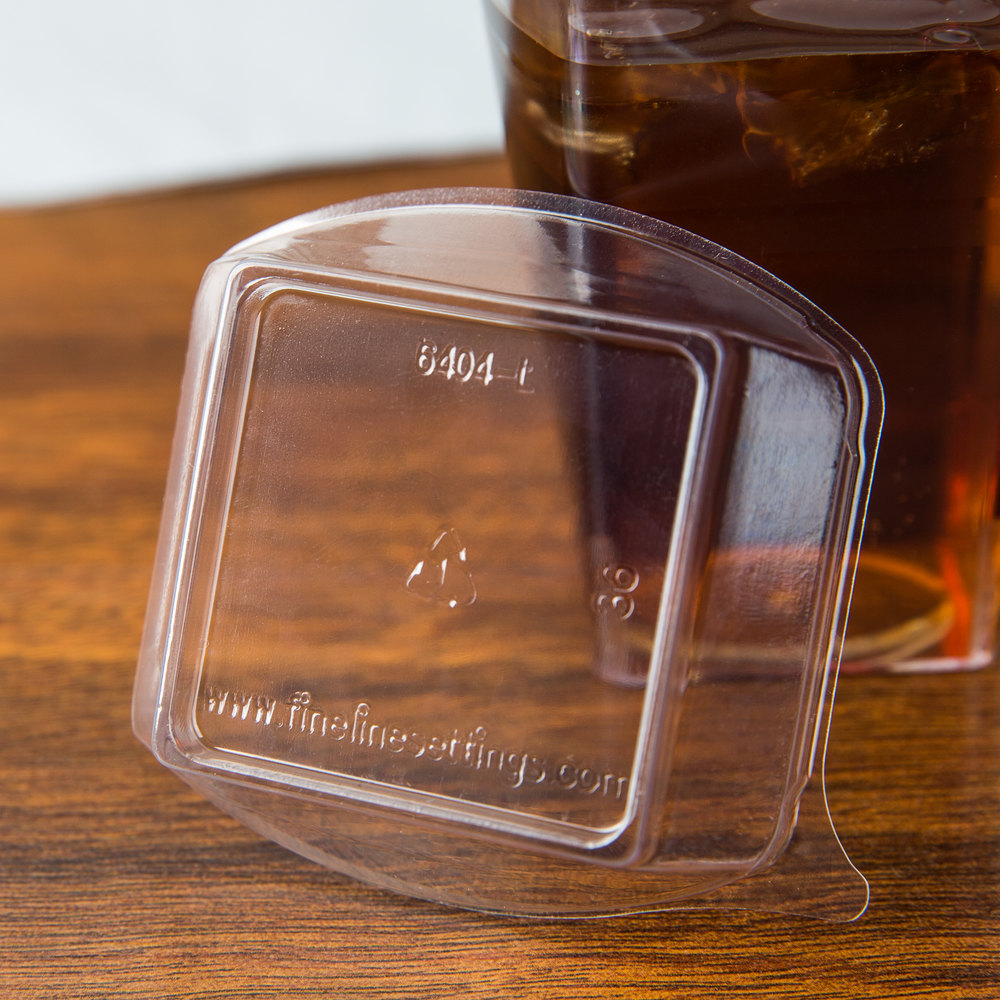 Fineline Tiny Temptations 6404-L Clear Dome Lid for 4 oz. Tiny Tumbler 1000 / Case
