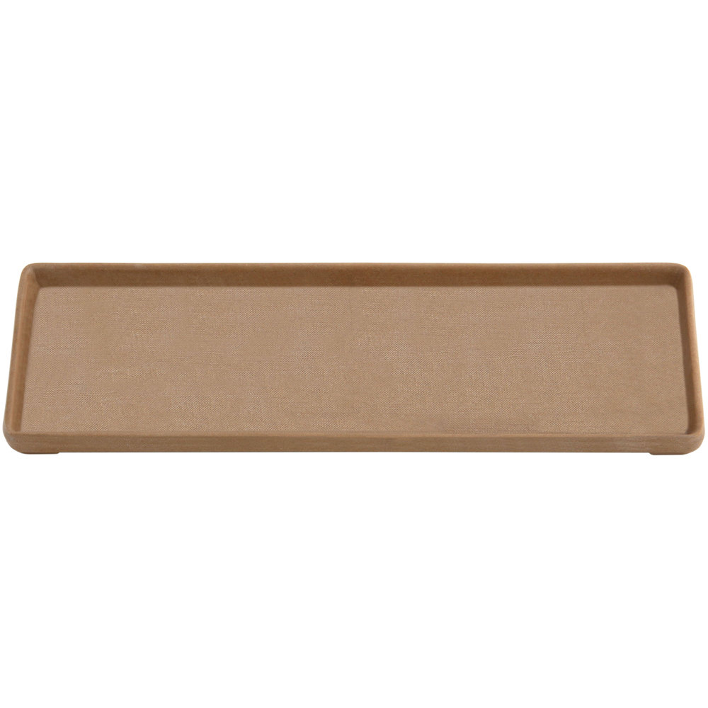 "Elite Global Solutions ECO412 Greenovations 12 1/8"" x 4 1/4"" Paper Bag-Colored Rectangular Tray"