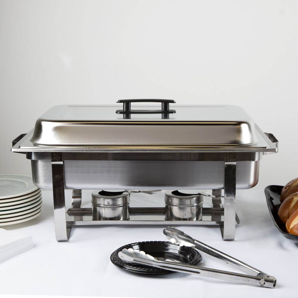 8 Qt. Stainless Steel Rectangular Chafer