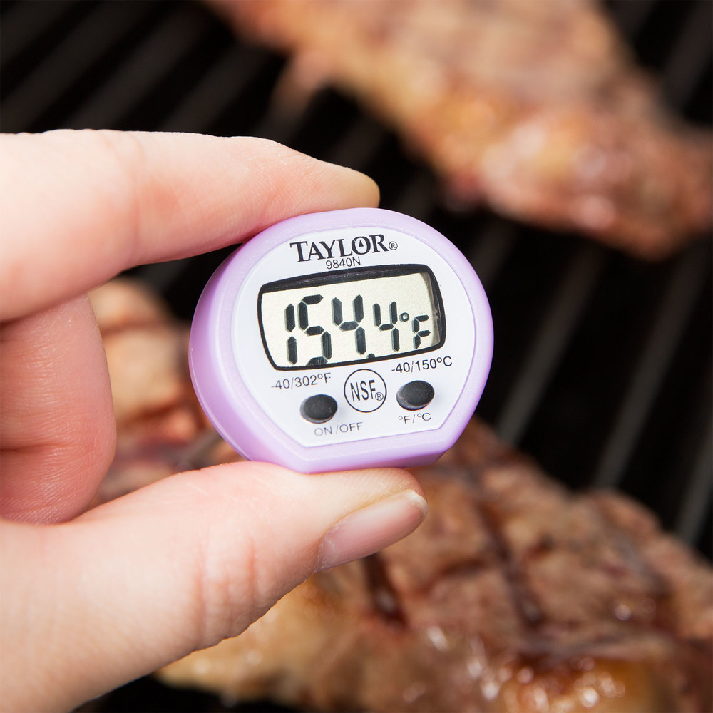 Taylor 9840PRN Purple Digital Pocket Thermometer with Sleeve