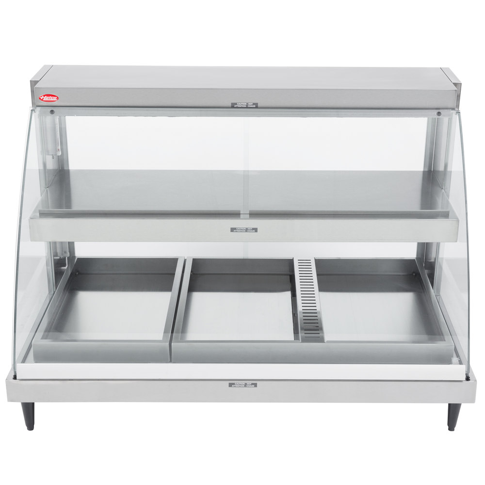 Hatco GRCDH-3PD Glo-Ray Two Shelf Full Service Heated Display Case ...