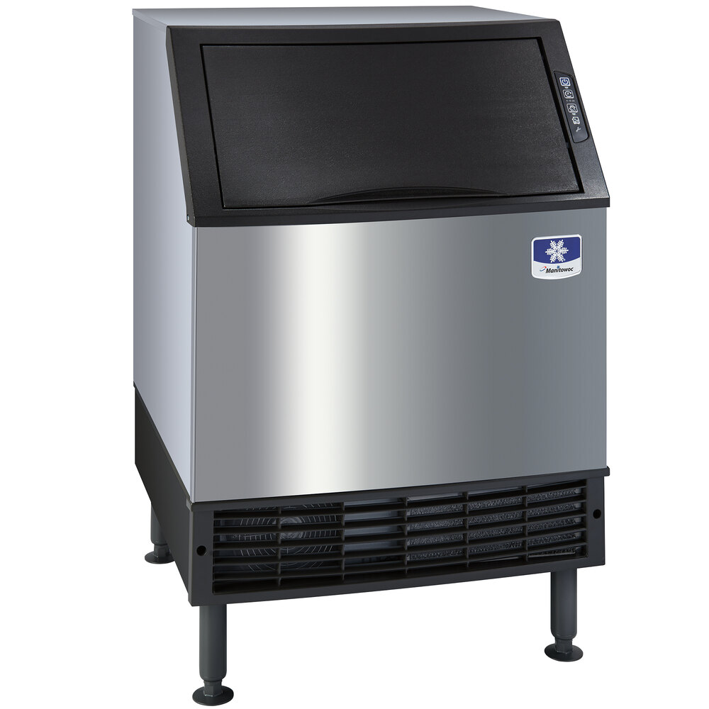 "Manitowoc UY-0240W NEO 26"" Water Cooled Undercounter Half Size Cube Ice Machine with 80 lb. Bin - 212 lb."