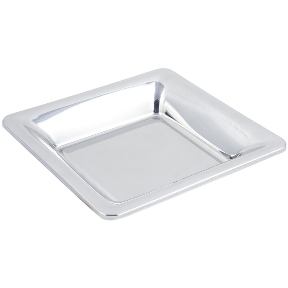 "Bon Chef 5216 12"" x 12"" Stainless Steel 2 Qt. 1 pt. Square Serving Dish"