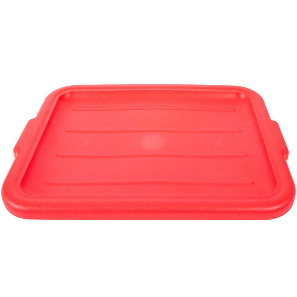 "Vollrath 1522-C02 Red 20"" x 15"" Polypropylene Recessed Bus Box Cover"