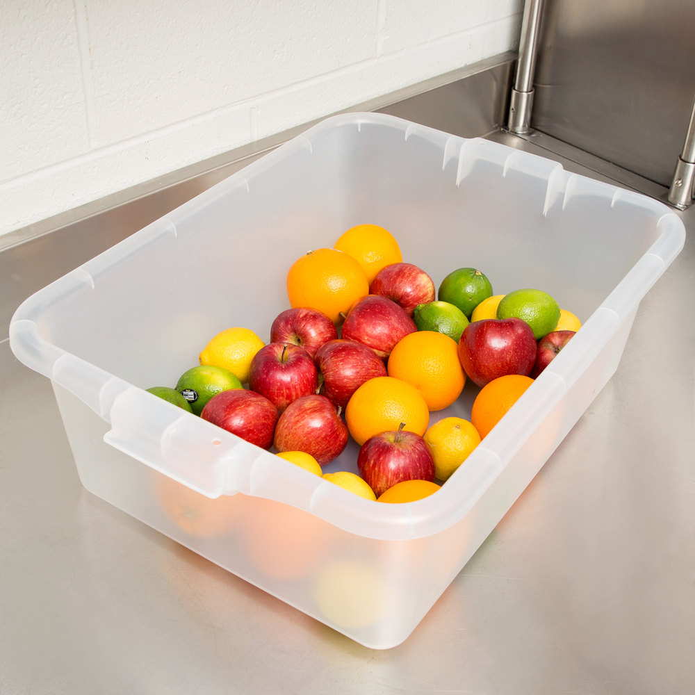 "Vollrath 1527-C13 Traex Color-Mate Clear 20"" x 15"" x 7"" Food Storage Box"