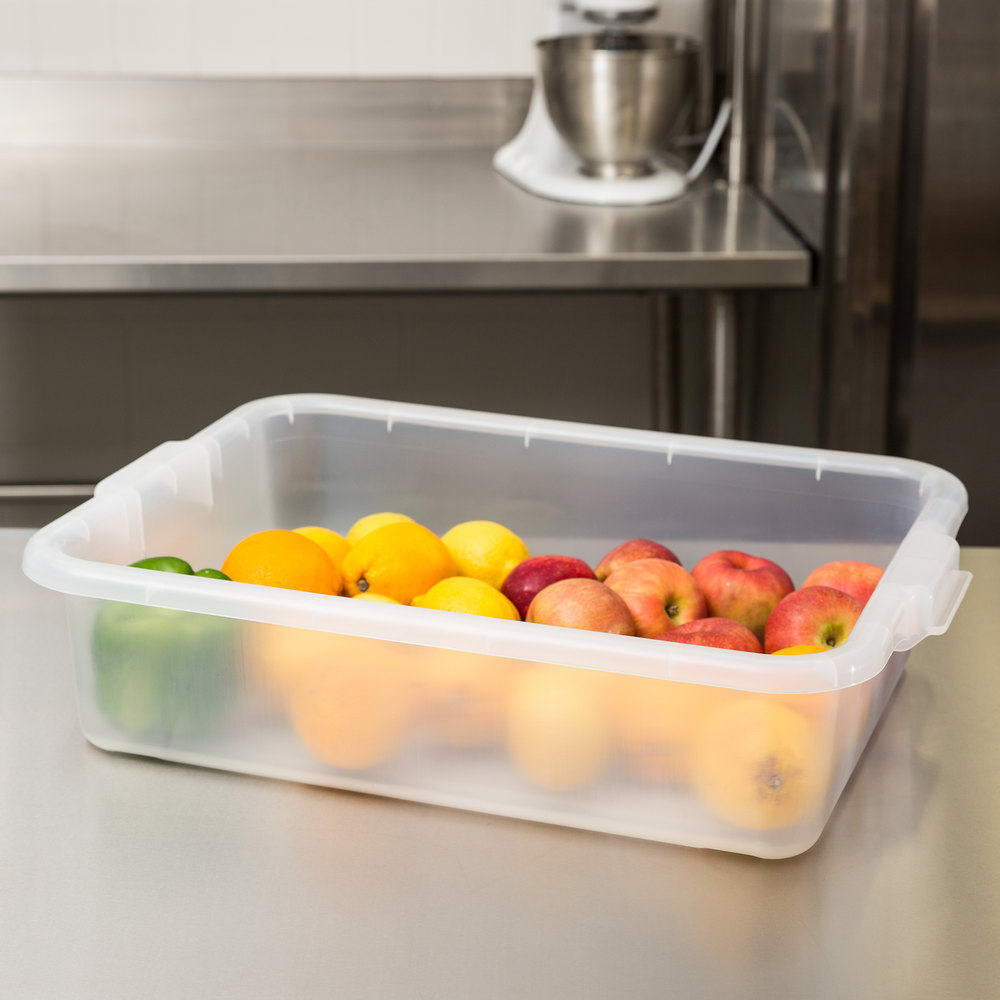 "Vollrath 1521-C13 Traex Color-Mate Clear 20"" x 15"" x 5"" Food Storage Box"