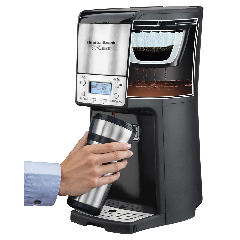 Best Coffee Maker Without Carafe : Hamilton Beach 48464 BrewStation Summit Black Single Serving 12 Cup Coffee Maker with Auto Shut Off