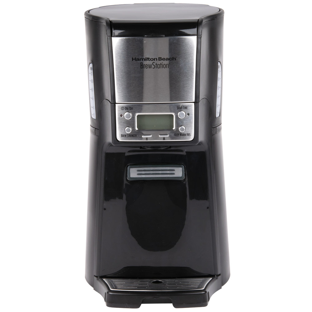 Coffee Maker With Auto Shut Off : Hamilton Beach 48464 BrewStation Summit Black Single Serving 12 Cup Coffee Maker with Auto Shut Off