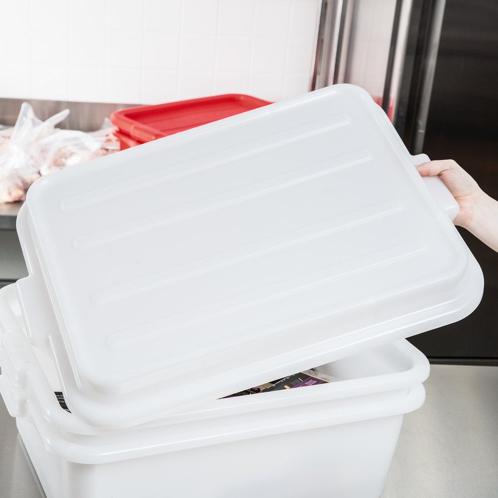 "Vollrath 1500-C05 White 15"" X 20"" Snap-On Polypropylene Lid for Traex Color-Mate Food Storage Box"