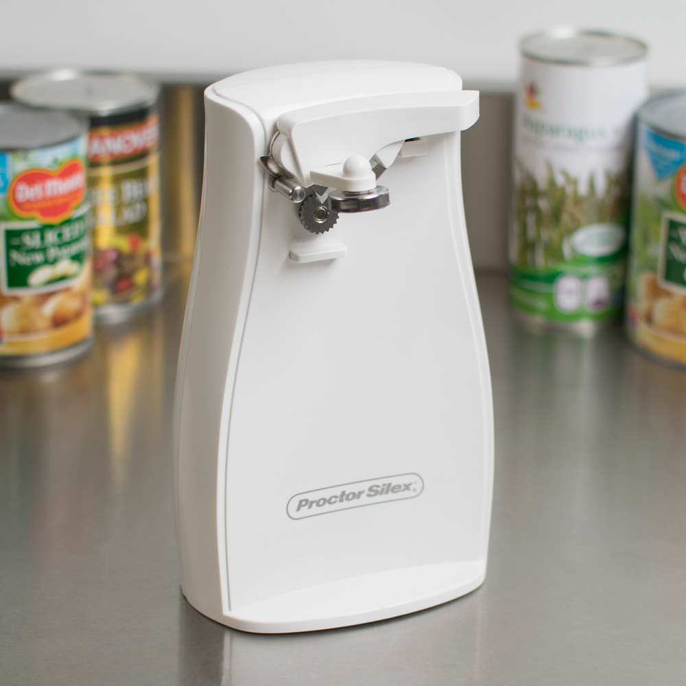 Proctor Silex 75224f White Electric Can Opener With Knife