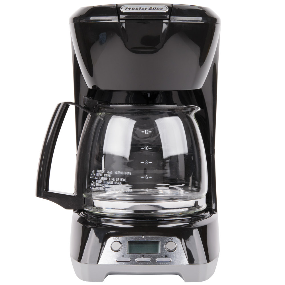 Coffee Maker Automatic Shut Off : Proctor Silex 43672 Black Programmable 12 Cup Coffee Maker with Auto Shut Off