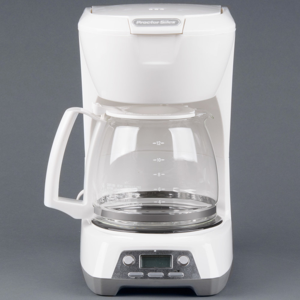 Coffee Maker Automatic Shut Off : Proctor Silex 43671 White Programmable 12 Cup Coffee Maker with Auto Shut Off
