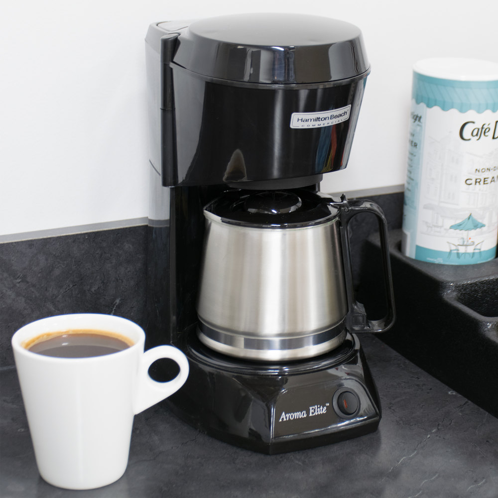 4 Cup Coffee Maker Glass Carafe : Hamilton Beach HDC500C 4 Cup Coffee Maker with Auto Shut Off and Glass Carafe - 120V, 550W