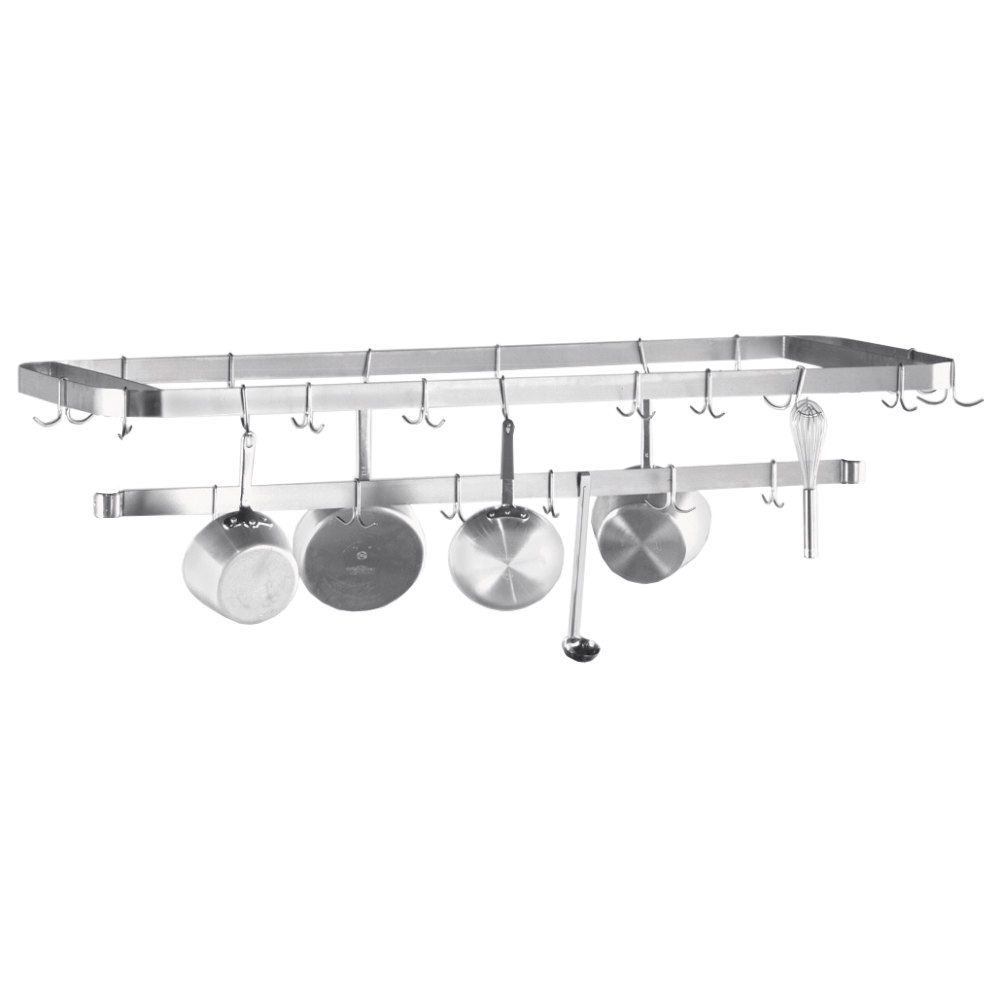"Advance Tabco SCT-132 Smart Fabrication 132"" Middle Mount Stainless Steel Pot Rack / Utensil Rack"