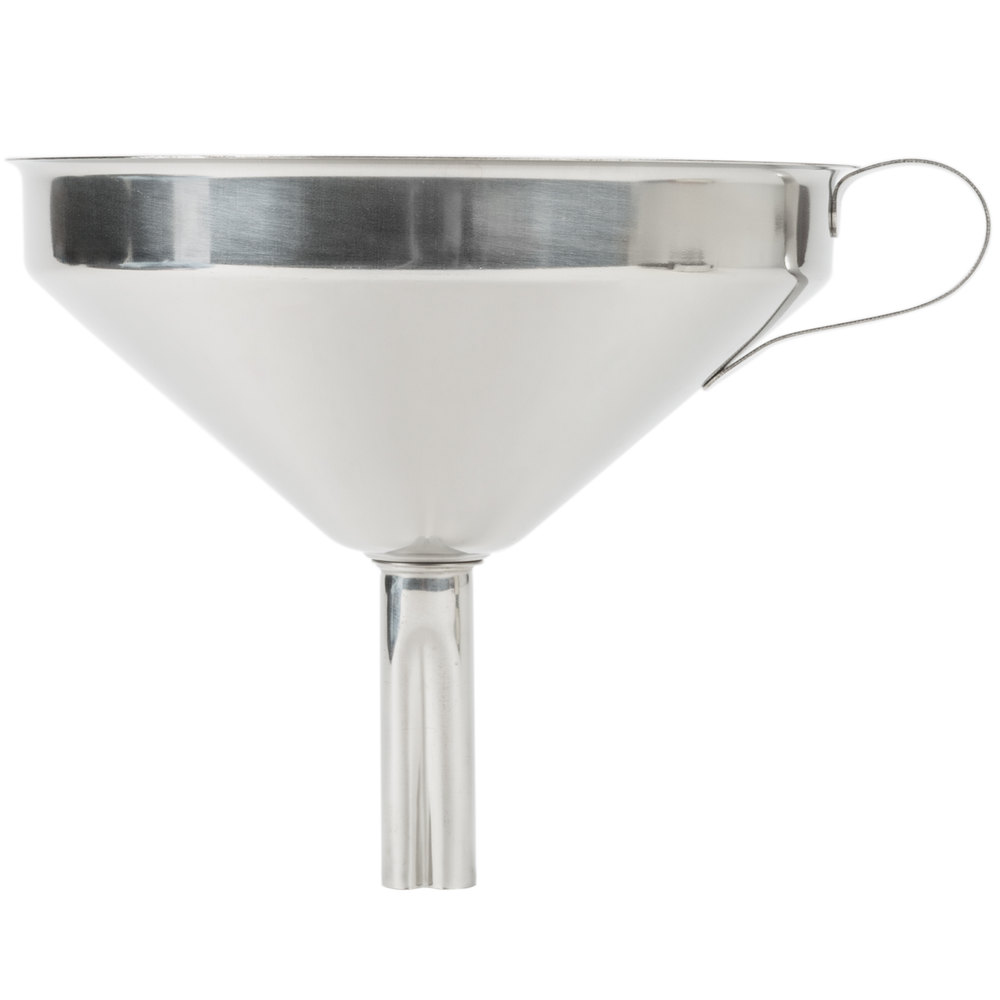 Kitchen Funnel: 16 Oz. Stainless Steel Funnel With Strainer