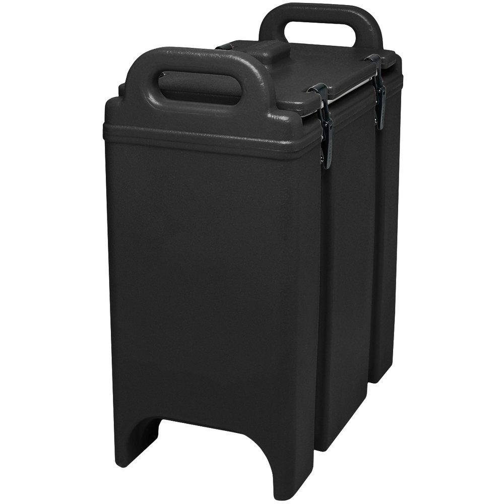 Cambro 350LCD110 Black 3.375 Gallon Camtainer Insulated Soup Carrier