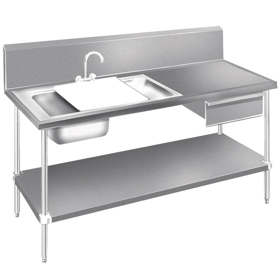 Dirty Kitchen Table: Advance Tabco DL-30-96 Stainless Steel Prep Table With