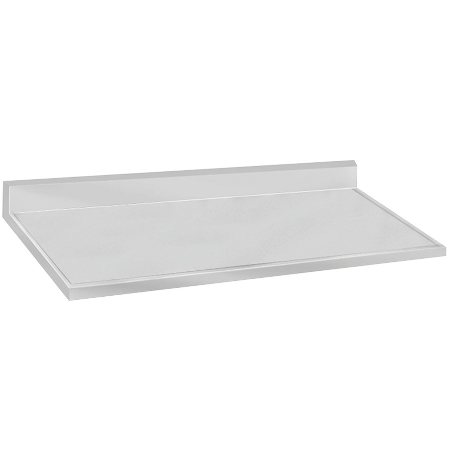 "Advance Tabco VKCT-308 30"" x 96"" Stainless Steel Countertop with 10"" Backsplash"