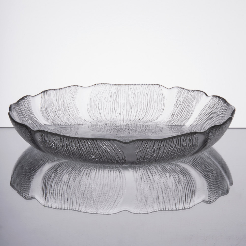 Arcoroc J0226 15 Oz Fleur Glass Soup Deep Salad Plate