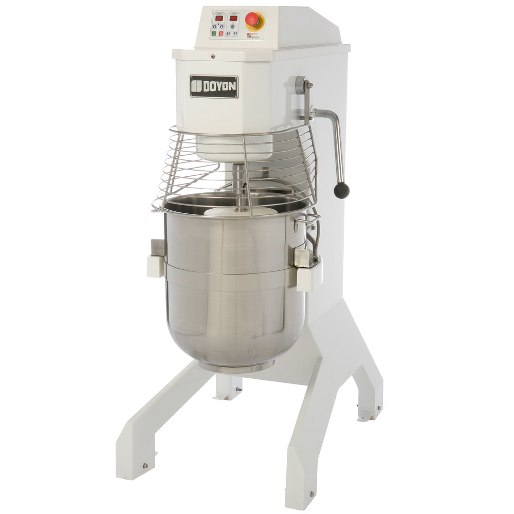 Doyon BTF060 60 Qt. Commercial Planetary Floor Mixer with Guard - 208-240V, 4 hp