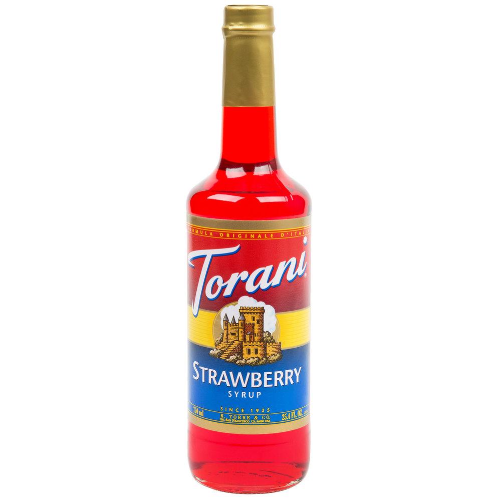 Torani 750 mL Strawberry Flavoring / Fruit Syrup