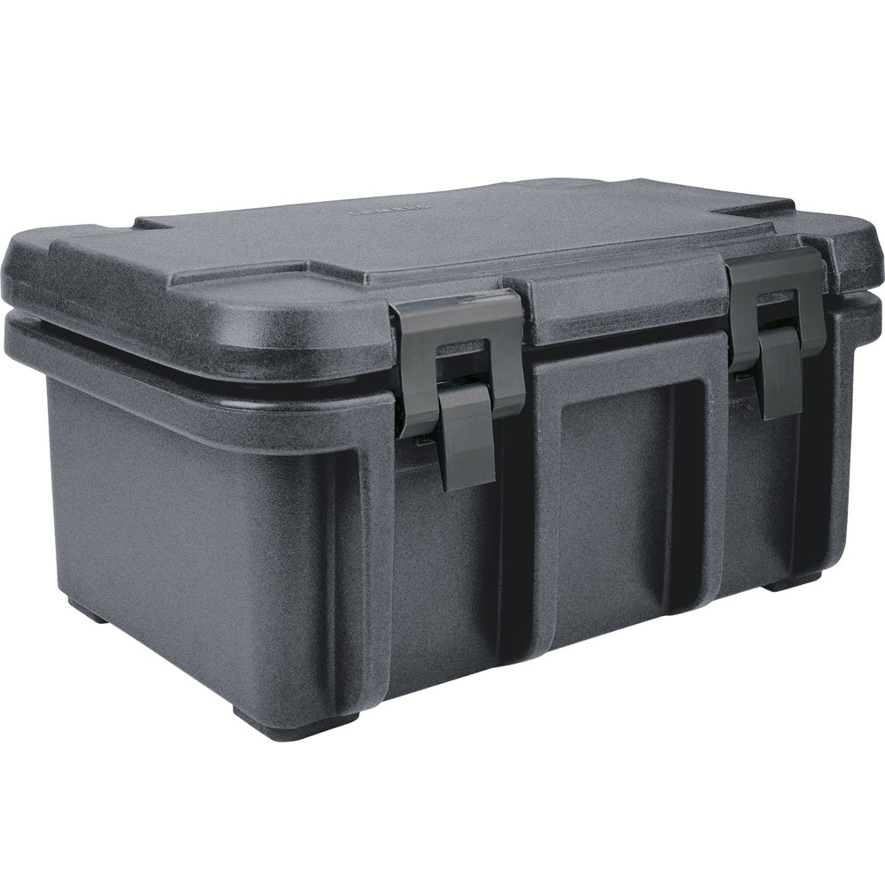 "Cambro UPC180191 Granite Gray Camcarrier Ultra Pan Carrier - Top Load for 12"" x 20"" Food Pan"